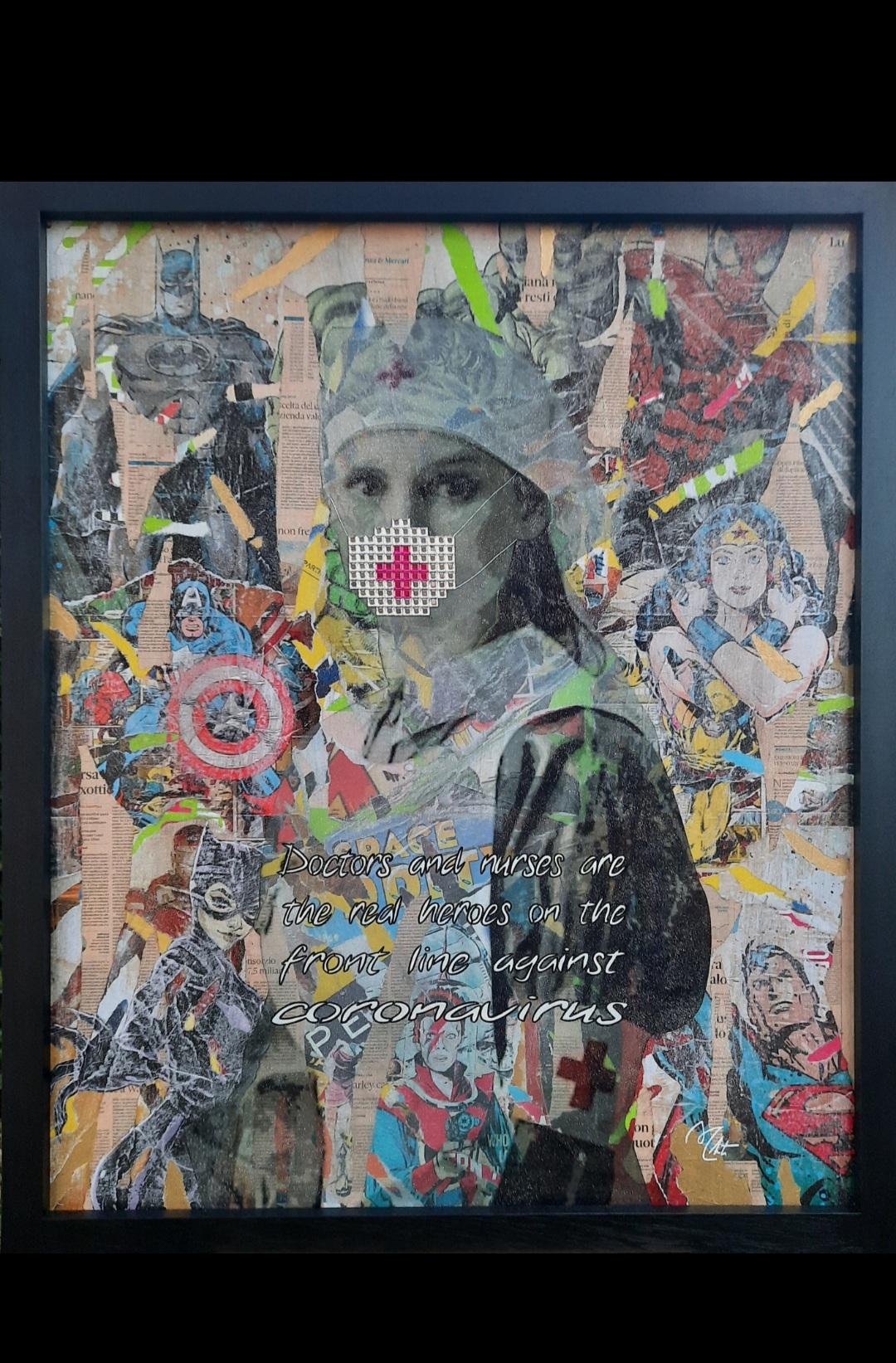 Supereroi al San Jacopo. L'opera di Massimo Chiti nella sala d'attesa dell'accettazione amministrativa