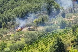 Intervento per un incendio a Forrottoli